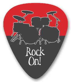 Custom guitar picks (front) - Thanks to Swanky Press!
