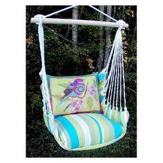 Magnolia Casual Bright Birds Hammock Chair and Pillow Set | from hayneedle.com