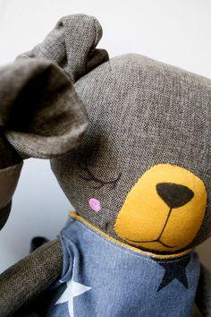 Handmade Bear Cloth Doll by Peanut And Elliott