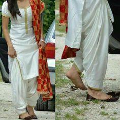 Neck and sleeves White Punjabi Suits, Indian Suits, Indian Attire, Indian Dresses, Indian Wear, Indian Clothes, Designer Punjabi Suits, Indian Designer Wear, Punjabi Fashion