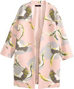 H&M - Short Coat - Powder pink/pattern - Ladies
