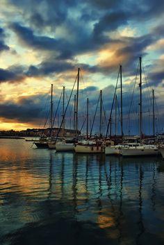 The beautiful city of Chania (Hania) Crete, Greece. Crete Island Greece, Mykonos Greece, Athens Greece, Places To Travel, Places To Visit, Travel Destinations, Greek Islands, Watercolor Landscape, Malta