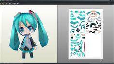 Resultado de imagen para papercraft anime para armar en papel miku