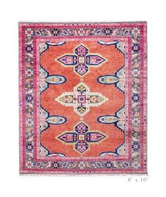 Caitlin Wilson Design Kismet Oriental Hand-Knotted Wool Coral/Pink Area Rug Rug Size: Rectangle 8 x 10 Coral Rug, Pink Rug, Coral Pink, Caitlin Wilson Design, Orange Carpet, Persian Pattern, Coastal Bedrooms, Custom Rugs, Carpet Design