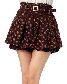LIZ LISA 小花柄フレアパンツ  skirt shorts so cute