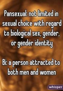 Pansexual and Bisexual Definitions LGBT Whisper