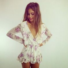 Stylish Floral Romper This Is Better Idea For summer Outfit