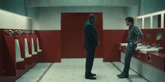 """Jack confronts Will in the bathroom from """"The Shining."""""""