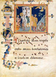 Pacino di Buonaguida - Laudario della Compagnia di Sant'Agnese - 1320 - tempera e oro su pergamena - Collezione Privata