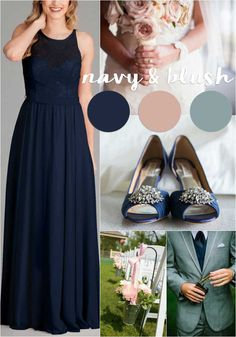 Navy and Blush | Our 4 Favorite Fall Wedding Color Palettes