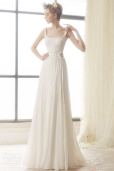ir de bundo bridal 2015 lirio sleeveless wedding dress with draped skirt
