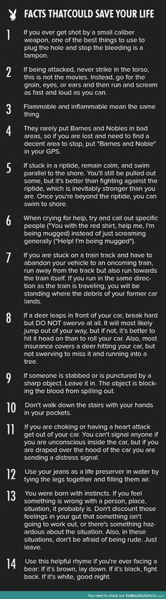 14 tips that could save your life: