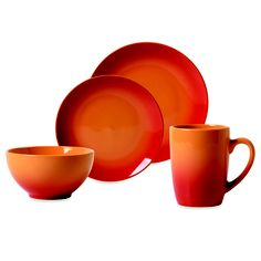 Tabletops Unlimited™ Ombre Red #Dinnerware