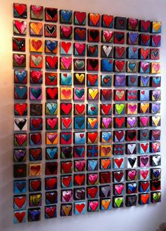 Multi-color Heart Wall