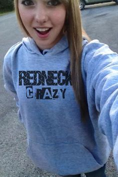 Redneck Crazy Country Hoodie Sweatshirt S M L XL by mystoryshirts