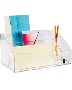 Acrylic Desktop Mail Center from The Container Store