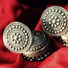 Silver jhumkas- just perfect with that black dress