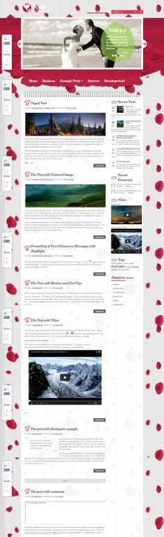 Rose WordPress Theme Wordpress Theme, Rose, Pink, Roses