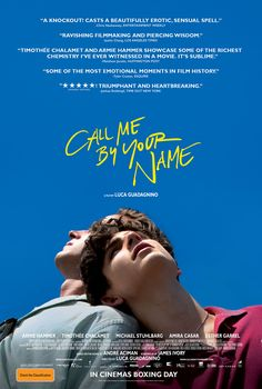 CALL ME BY YOUR NAME is one of those films where the planets of cinema aligned to give us the film equivalent of an eclipse. If Timothée Chalamet doesn't get an Oscar nomination the Academy can go and suck a used peach! https://saltypopcorn.com.au/call-me-by-your-name/