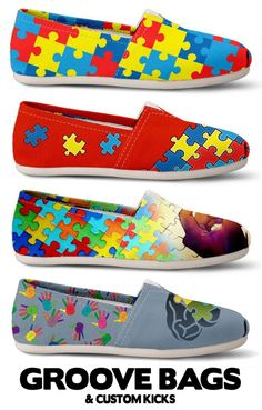 Canvas High Top Sneaker Casual Skate Shoe Mens Womens Autism Awareness Puzzle Heart Colorful Dots