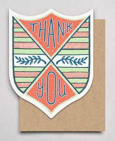 Hammerpress letterpress thank you card badges
