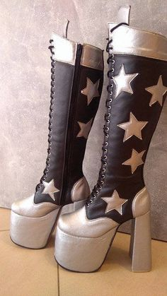 Paul Stanley, Punk Shoes, Shoes Heels, Kiss Boots, Rock Costume, Cosplay Costumes For Men, Star Girl, Buy Fabric, Glam Rock