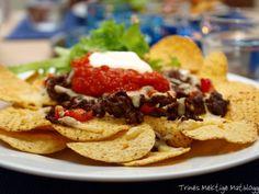 Nachos med hjemmelaget chilisaus