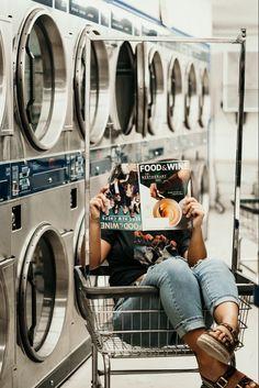 Laundromat Photoshoot with Jackie Jo Photography in California Photography Camera, Vintage Photography, Creative Photography, Photoshoot Concept, Photoshoot Themes, Creative Photoshoot Ideas, Creative Portraits, Fashion Photography Inspiration, Photoshoot Inspiration
