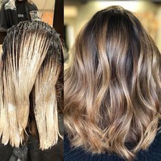 """200 Likes, 6 Comments - Amy (@camouflageandbalayage) on Instagram: """"Root melt with The Demi 1.5oz 6N .5 oz Pm Shines 6Bv Hilites with Oligo Clay and 40 vol w/B3 Toned…"""""""