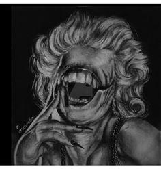 marylin monroe more like marilyn mon-eater by puchkiluii on DeviantArt Marilyn Monroe Art, Sculptures, Fanart, Deviantart, Drawings, Painting, Painting Art, Sculpting, Fan Art