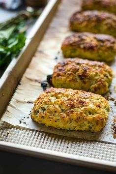 Savory Ricotta Scones--A light and fluffy savory scone that is perfect for breakfast, brunch, or served in place of dinner rolls. Savoury Biscuits, Savory Scones, Savoury Baking, Brunch Recipes, Breakfast Recipes, Scone Recipes, Muffins, Dinner Rolls, Thanksgiving