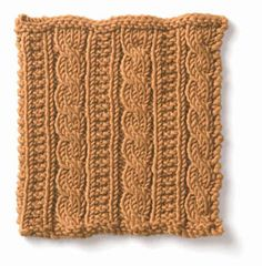 gingerbread cable pattern A CABLE PATTERN FOR AN AFGHAN