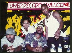 "The Source Magazine, Issue October Coast II Coast. ""Raekwon & Ghostface cookin' up a party at Tower Records with Doug E. Fresh and the lovely miss jones. Source Magazine, Hip Hop Classics, Ghostface Killah, Tower Records, School Images, Female Cyclist, Wu Tang Clan, Love N Hip Hop, Hip Hop Rap"