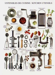 Basic Kitchen Equipment – Stock Your Kitchen – Kitchen Utensils (Bake Equipment) Kitchen Utensils List, Kitchen Items, Kitchen Things, Kitchen Stuff, Kitchen Equipment, Tools And Equipment, Essential Kitchen Tools, Kitchen Designs Photos, Kitchen Must Haves