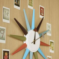 Clock with instax photos: Decorate: Ideas: instax | FUJIFILM