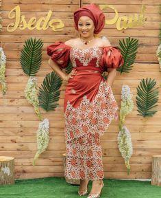 Elegant Asoebi Owambe Styles For Classy Ladies - Beta Protocol Nigerian Lace Styles, Aso Ebi Lace Styles, Lace Gown Styles, African Lace Styles, African Lace Dresses, African Style, Ankara Styles, African Wedding Attire, African Attire