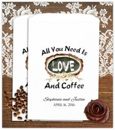Wedding Coffee Bags  Coffee Bags   Wedding Party Favors