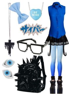 """Black and blue"" by twisted-candy on Polyvore"