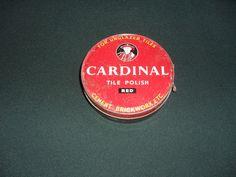 VINTAGE  ADVERTISING TIN- CARDINAL TILE POLISH RED- CHISWICK PRODUCTS LONDON    eBay