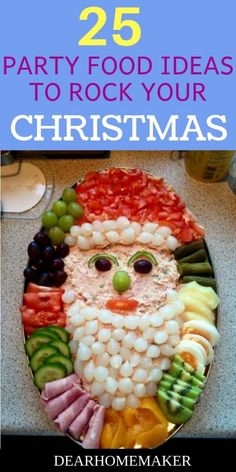 25 Christmas party food ideas to rock your party. 5 delicious dinner recipes, 5 refreshing salads, 5 spectacular desert ideas, 5 mouthwatering party appetizers and 5 colorful drinks. Christmas Party Snacks, Christmas Deserts, Christmas Appetizers, Christmas Drinks, Appetizers For Party, Christmas Christmas, Christmas Buffet, Office Party Foods, Nutrition Education