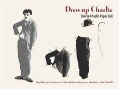 Charlie Chaplin paper dolls  | Charlie Chaplin Paper Dolls | Paper Dolls