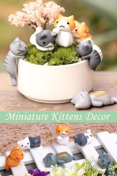 We fell in love with those little kittens. Great product for your home mini decor or a present for cat lovers!