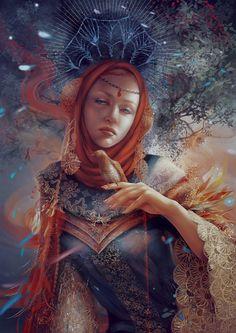 Mystery. Moon goddess by Vasylina on deviantART