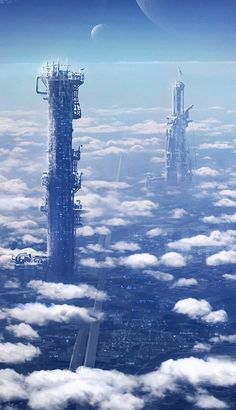 Towers by etwoo.deviantart.com on @deviantART