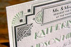 Great Gatsby-Inspired Art Deco Wedding Invitations