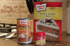 Favorite Pumpkin Bread {that my kids love too!} - Looking for a quick, easy (YUMMY) fall treat - you've found Yummy Treats, Delicious Desserts, Sweet Treats, Dessert Recipes, Yummy Food, Fall Desserts, Pumpkin Recipes, Fall Recipes, Holiday Recipes