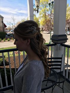 Hair piece with long bridal hair updo