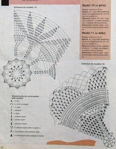 Circular table linens crocheted