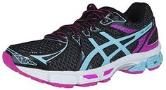 ASICS Womens GELExalt 2 Running Shoe 9 BM US BlackAquaPink Glow * To view further for this item, visit the image link.