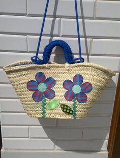 Cesta-capazo flores de patch / MARULA - Artesanio